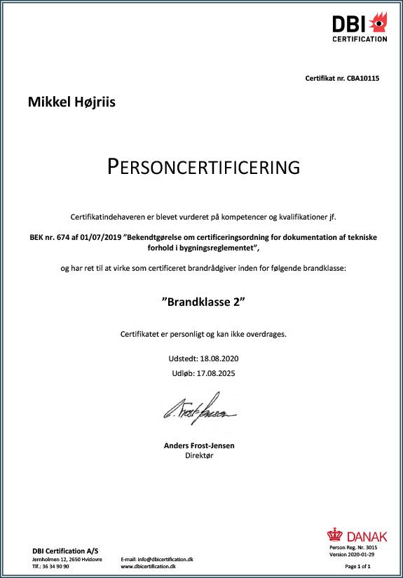 Certificeret brandrådgiver